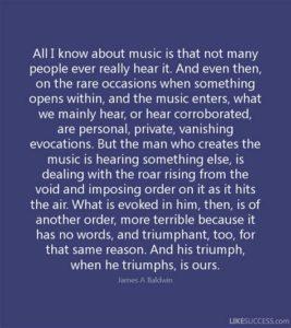 Baldwin Music Quote