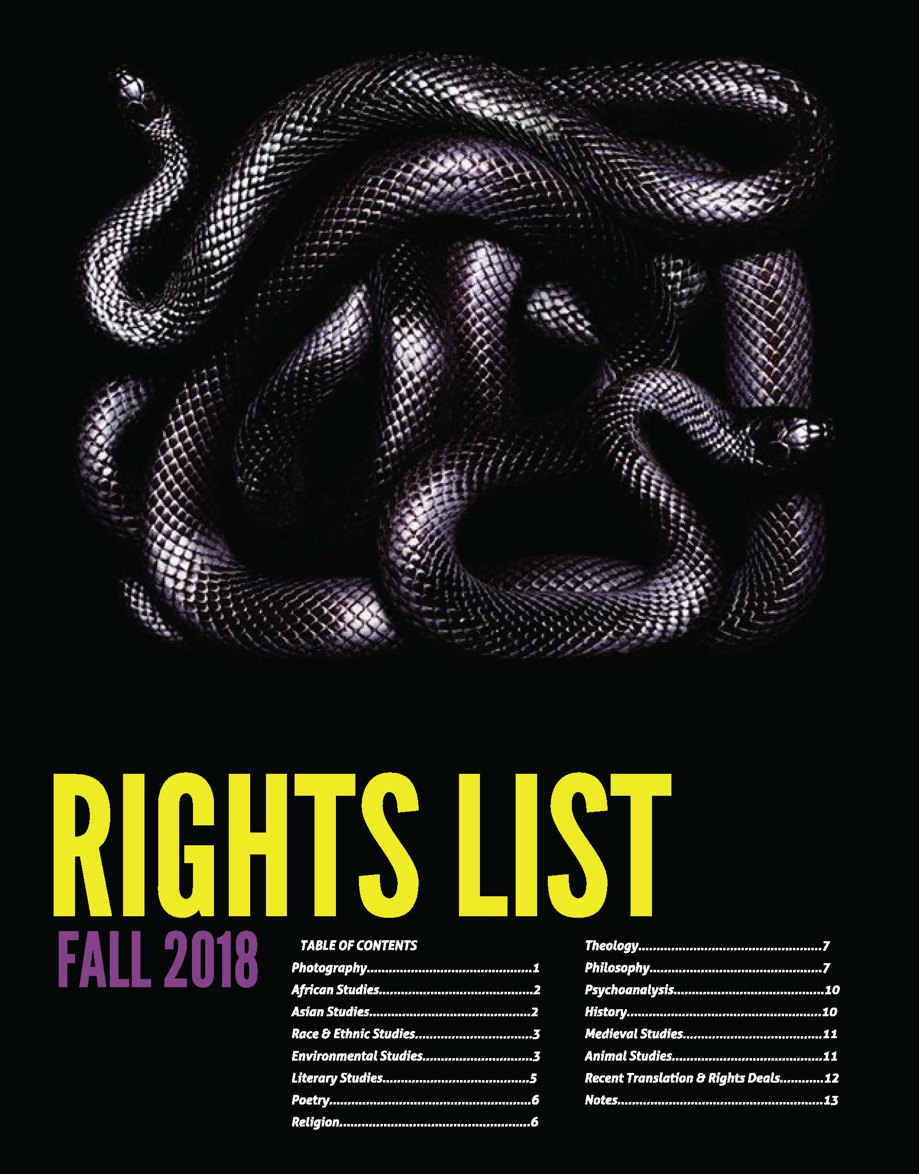 Foreign Rights 2018