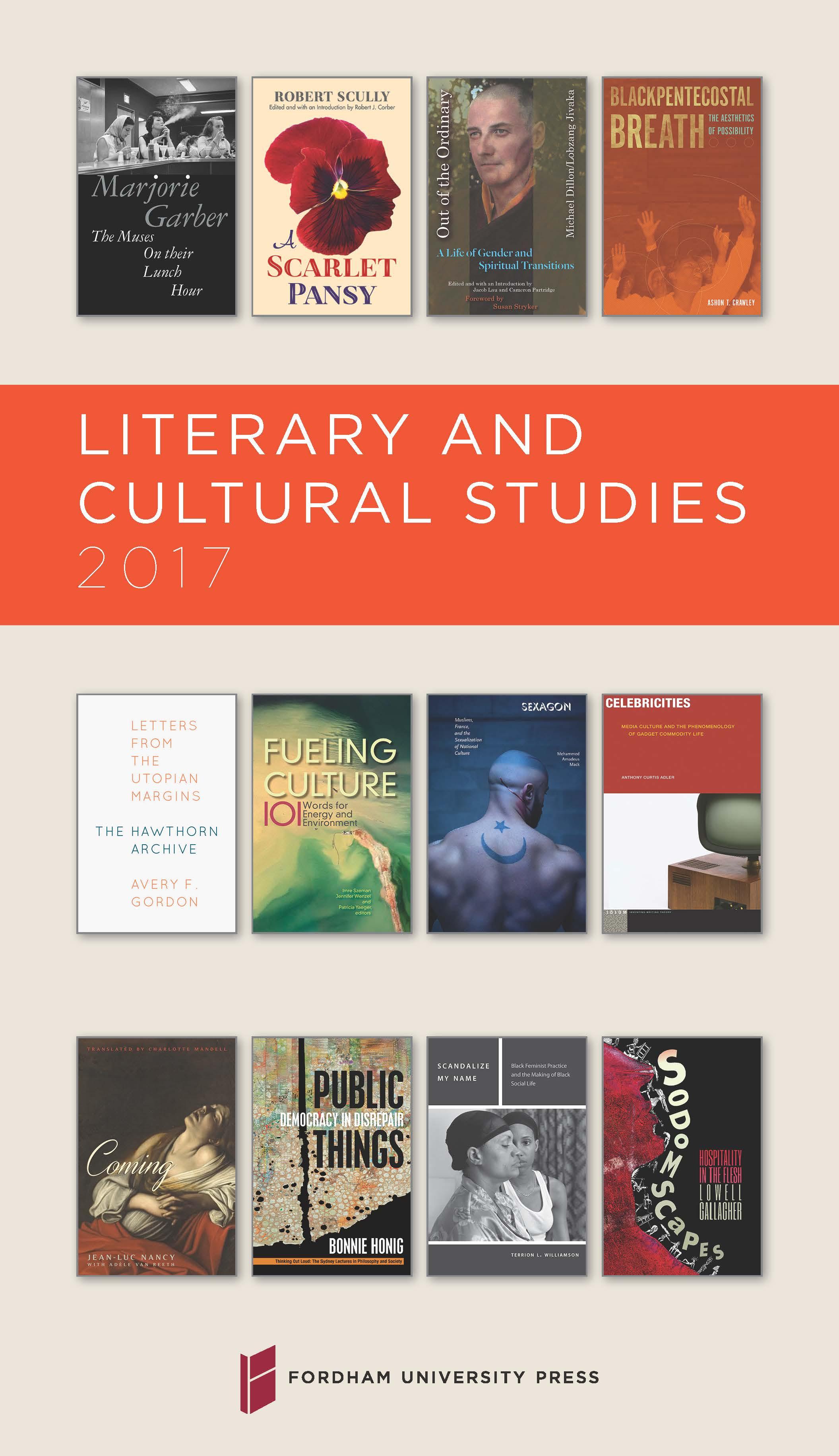 Literary & Cultural Studies 2017 Brochure
